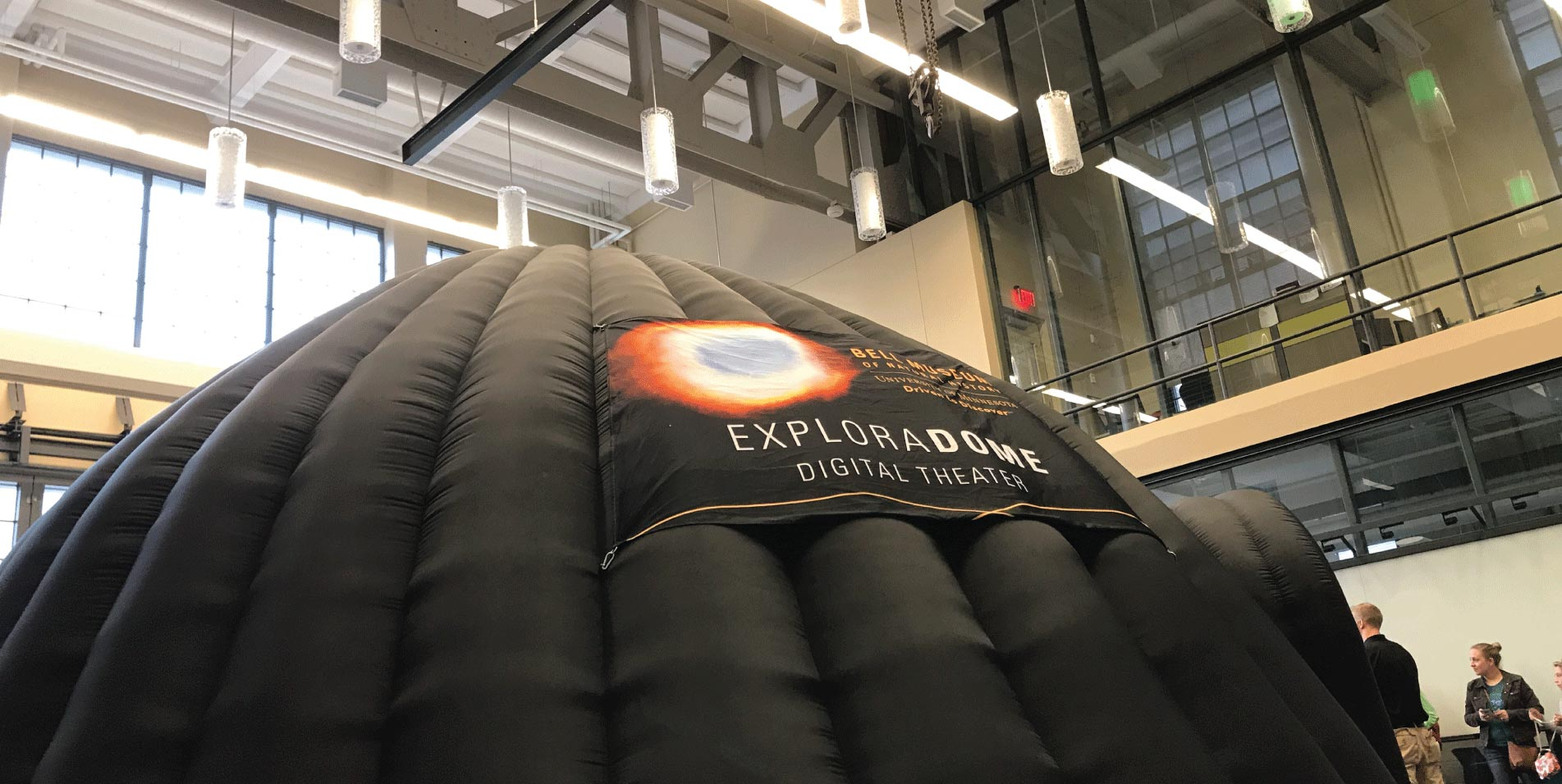 ExploraDome theater at a community event