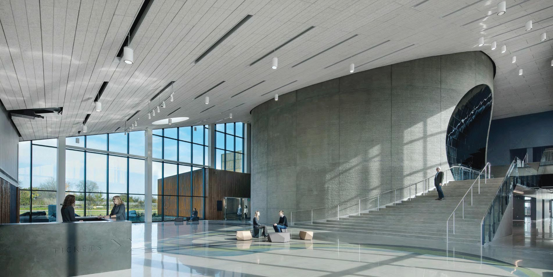 View inside Horizon Hall at the new museum
