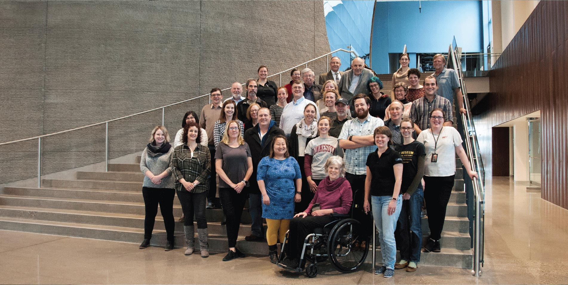 Group of Bell Museum staff and board members from January 2018