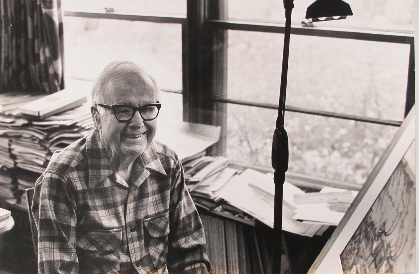 Breck in his home art studio