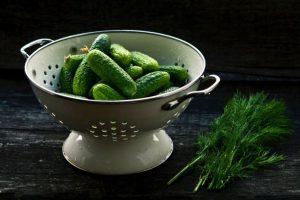 collander of pickles