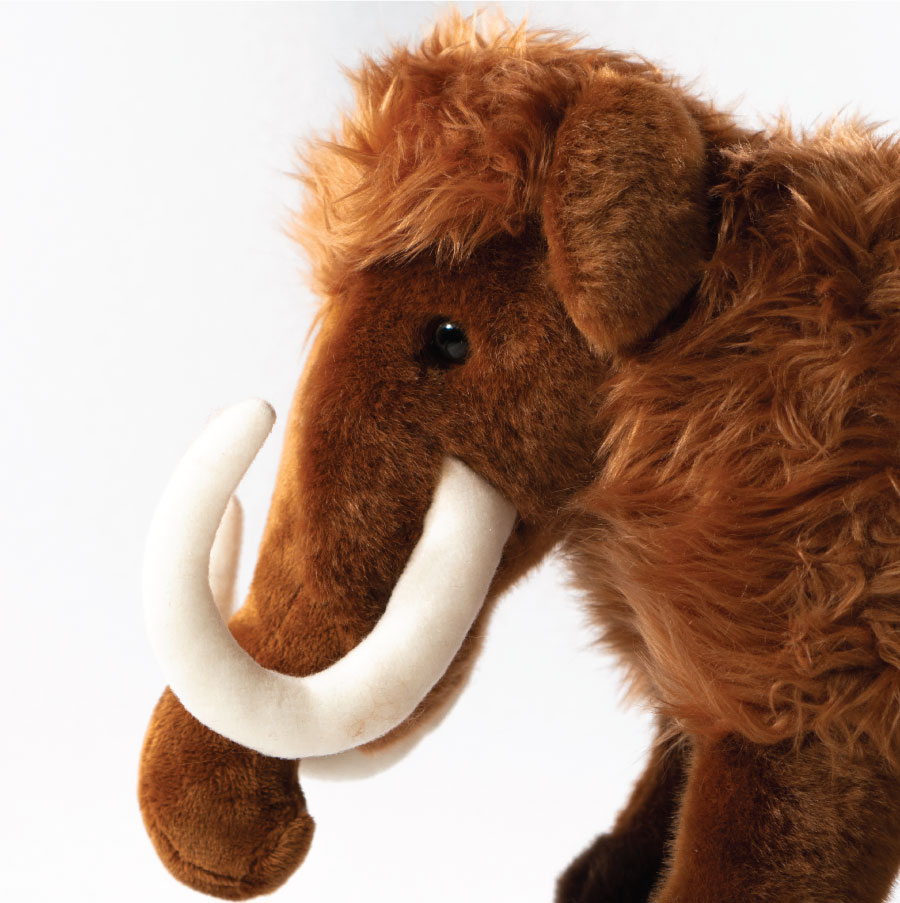 Woolly Mammoth plush toy available in the shop.