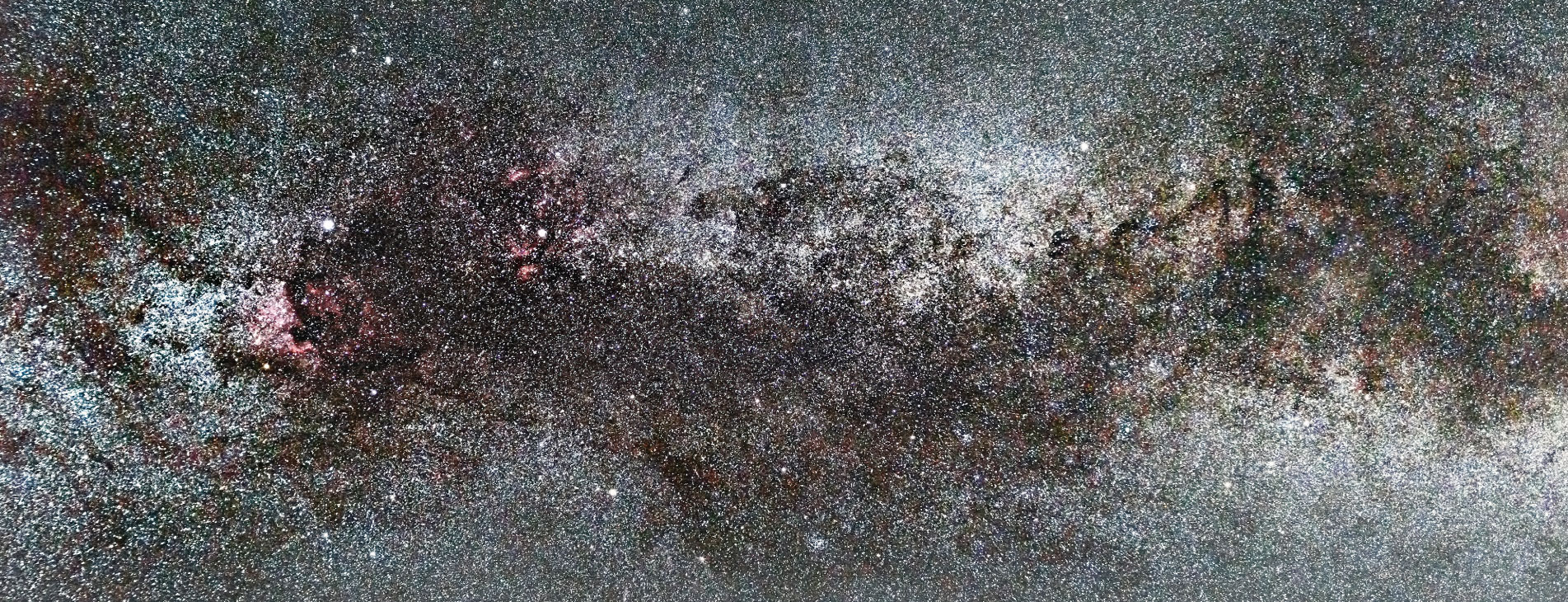 Milky Way galaxy, cygnus constellation, and the northern cross.
