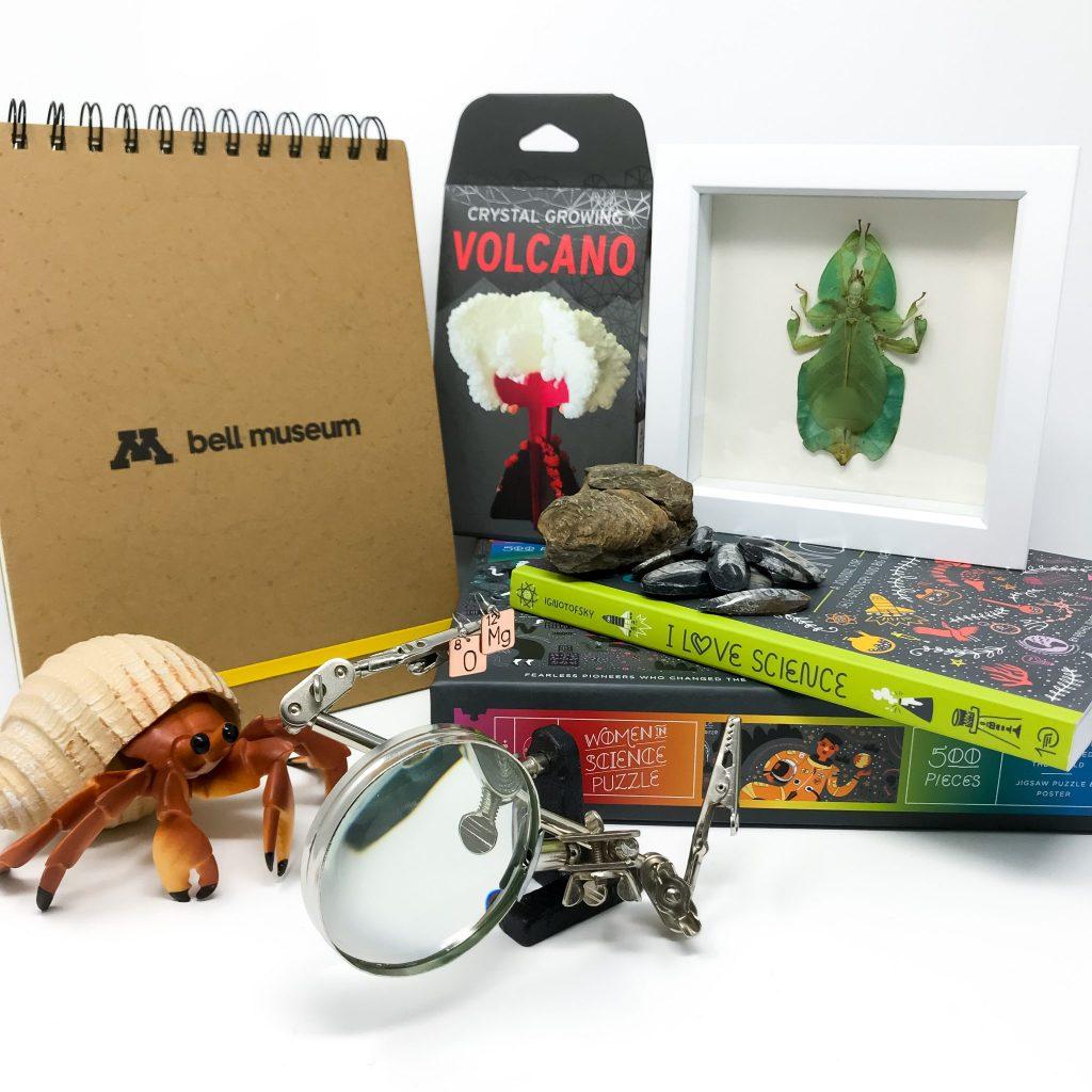 Curiosity Shop merchandise arranged together.