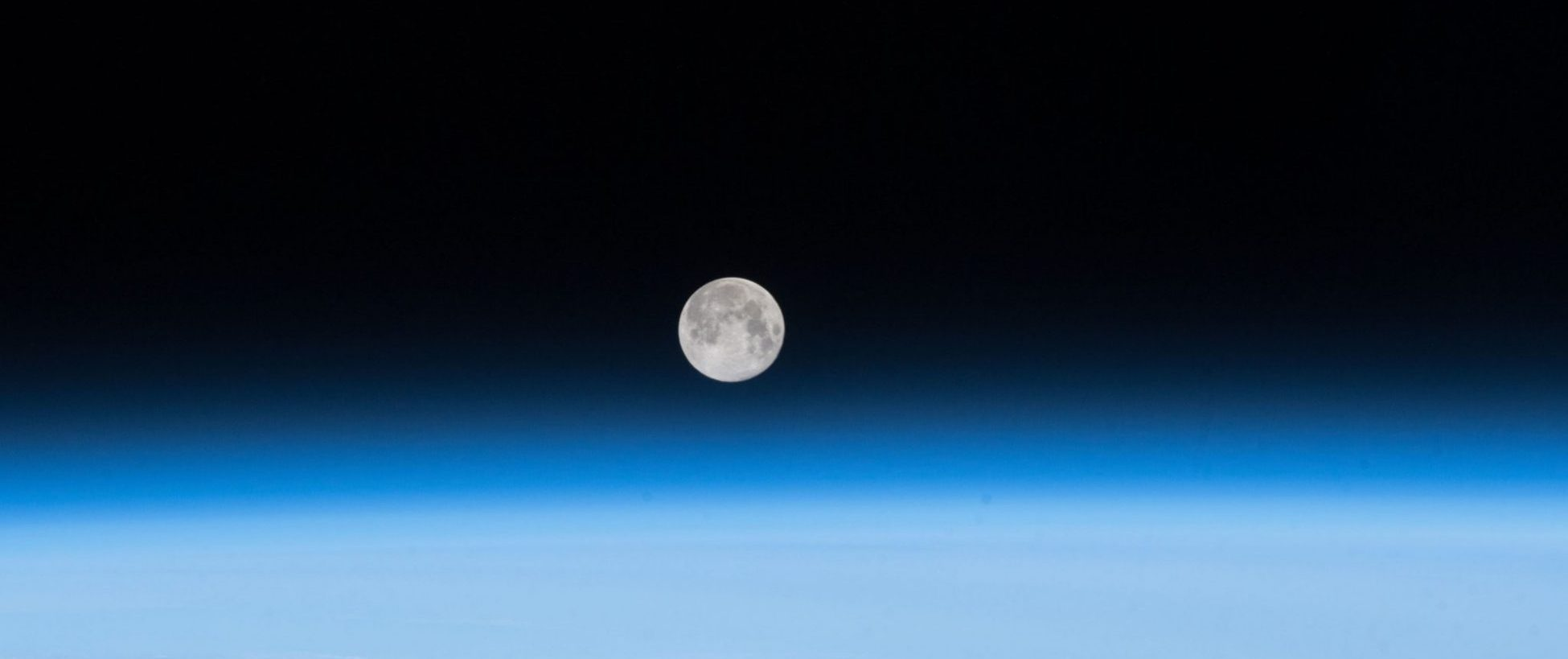 Image of Earth's Moon taken from the International Space Station