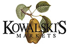 Logo for Kowalski's Markets with a pear on a twig with leaves