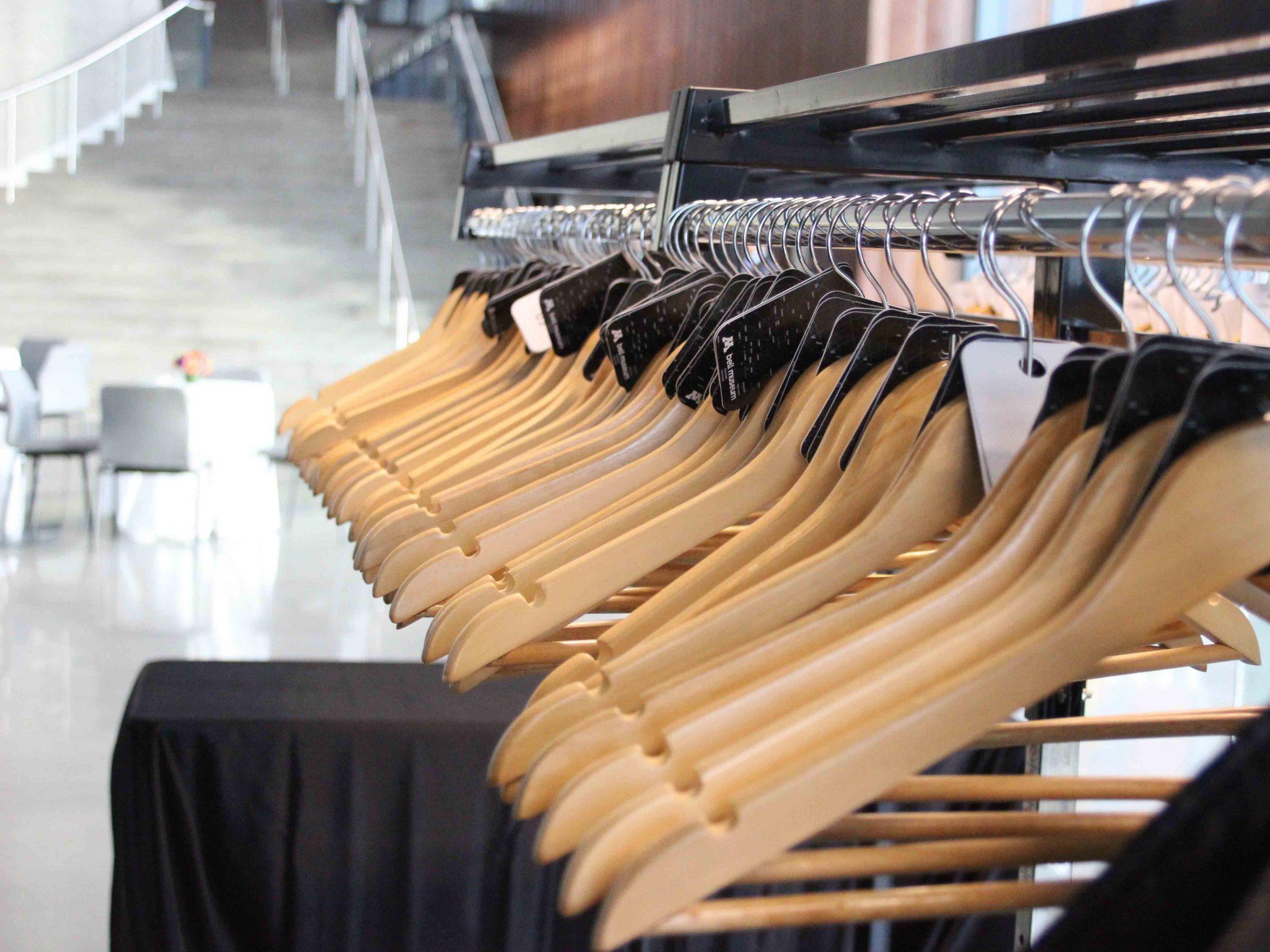 Ample coat racks in Horizon Hall