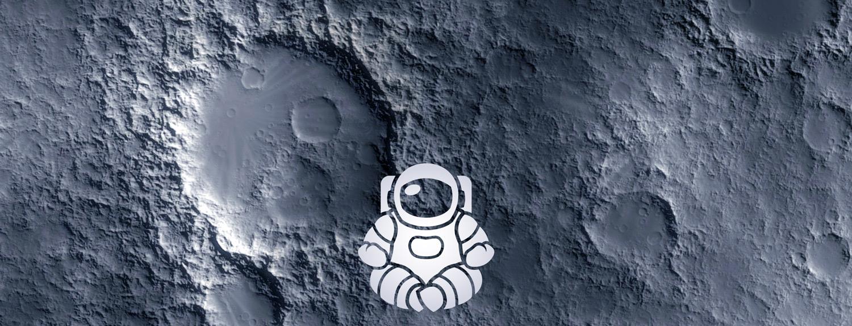 Vector illustration of astronaut doing yoga