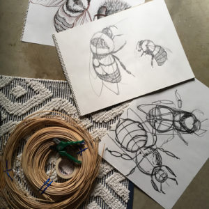 Sketches by Bell resident artist Anna Cerelia Battistini