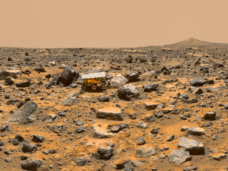 Pathfinder on the surface of Mars