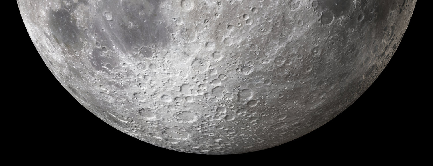 A portion of the moon, closeup photo