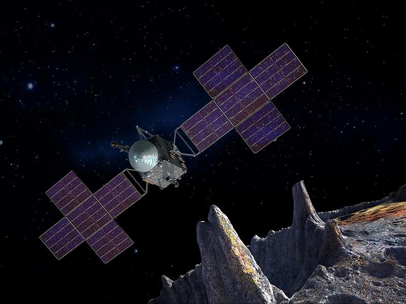 An artist's concept of a solar-powered spacecraft