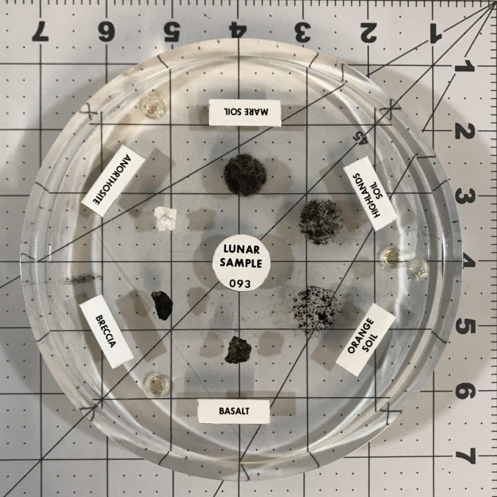 Lunar sample disk