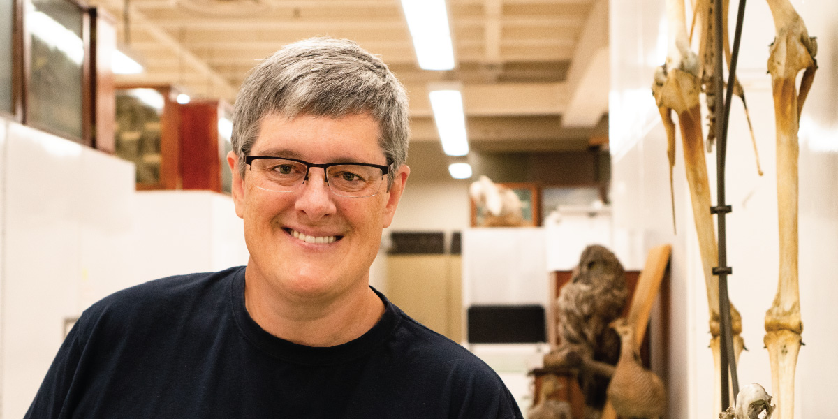 Curator Keith Barker