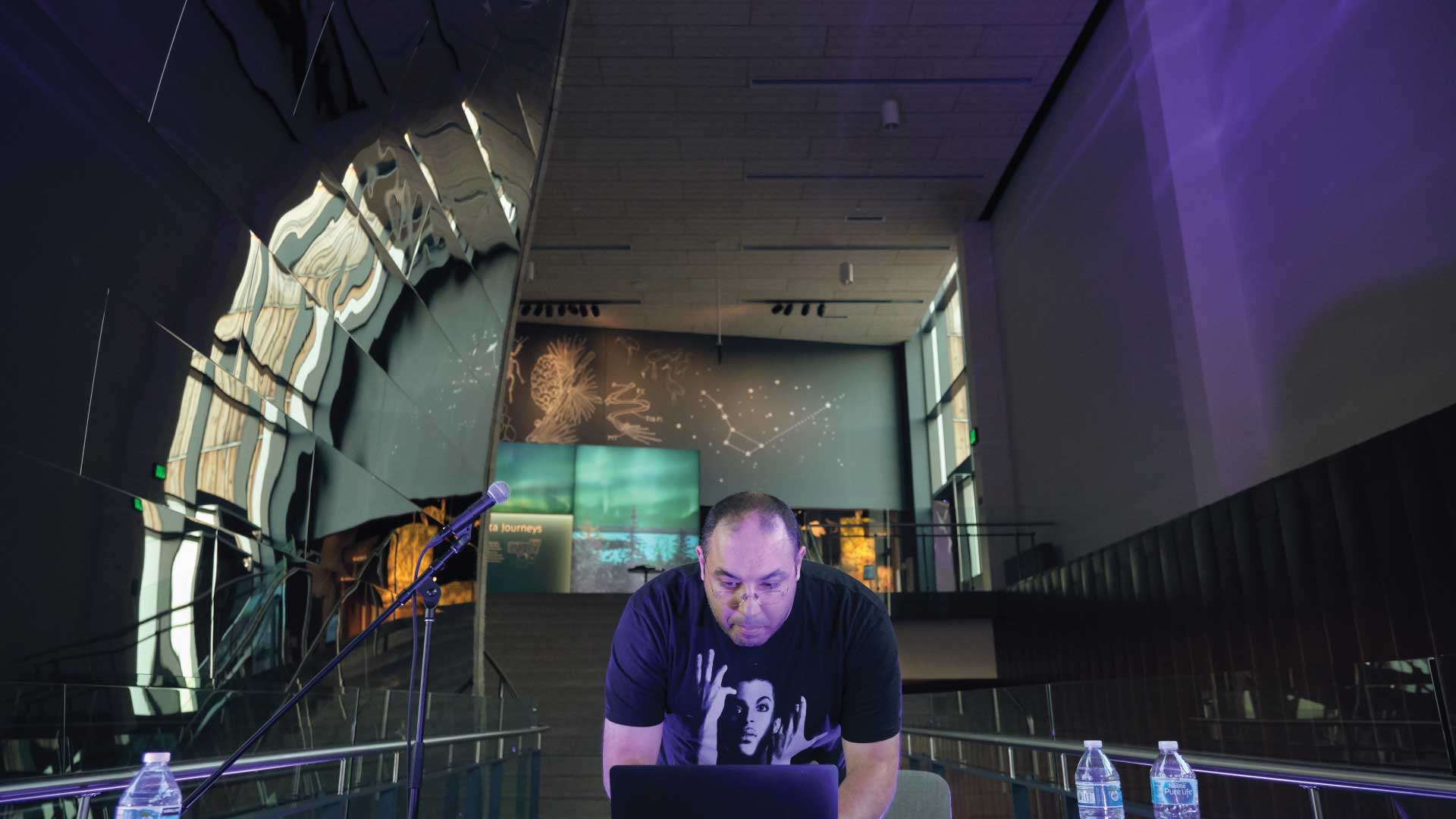 DJ Egypto Knuckles at the museum