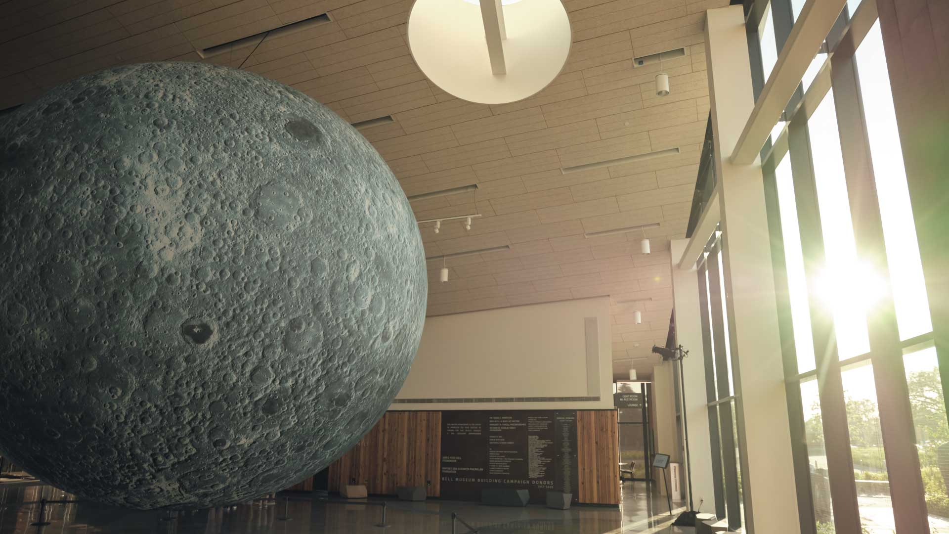 Sunset over Museum of the Moon