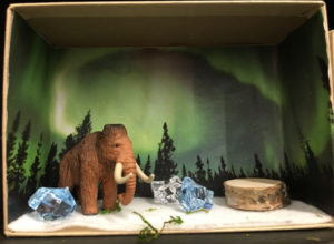 Mini mammoth diorama craft