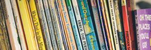 Photo of a shelf of kids' books