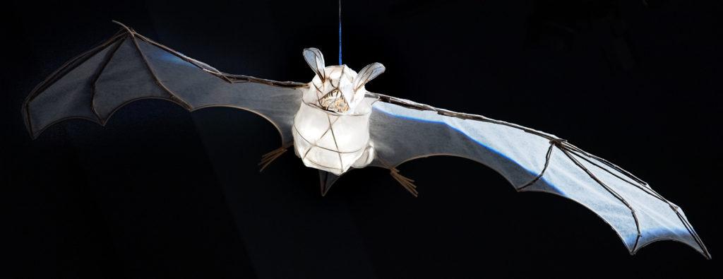 Lantern sculpture of the bat species