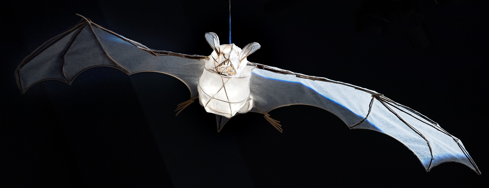 Lantern sculpture of the bat species