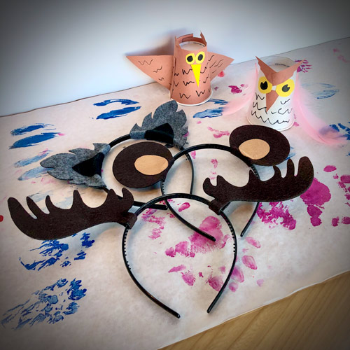 Activities to be done during Family Fun Days (animal tracks, animal ears, animal craft)