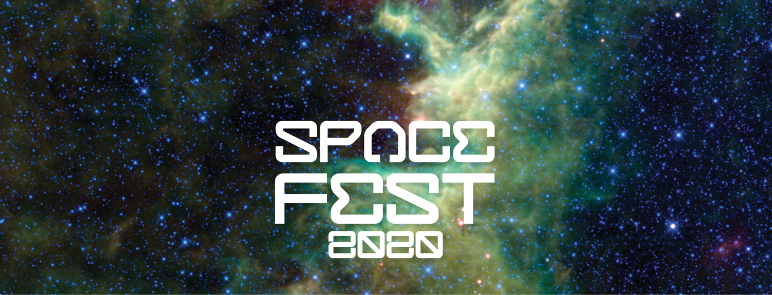 A constellation photo with title: Space Fest 2020