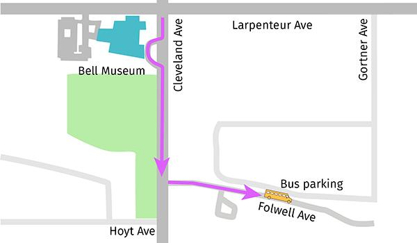 Bus drop-off map
