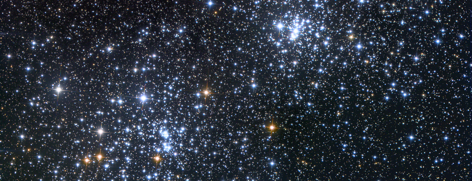 Double cluster (star image from NASA)