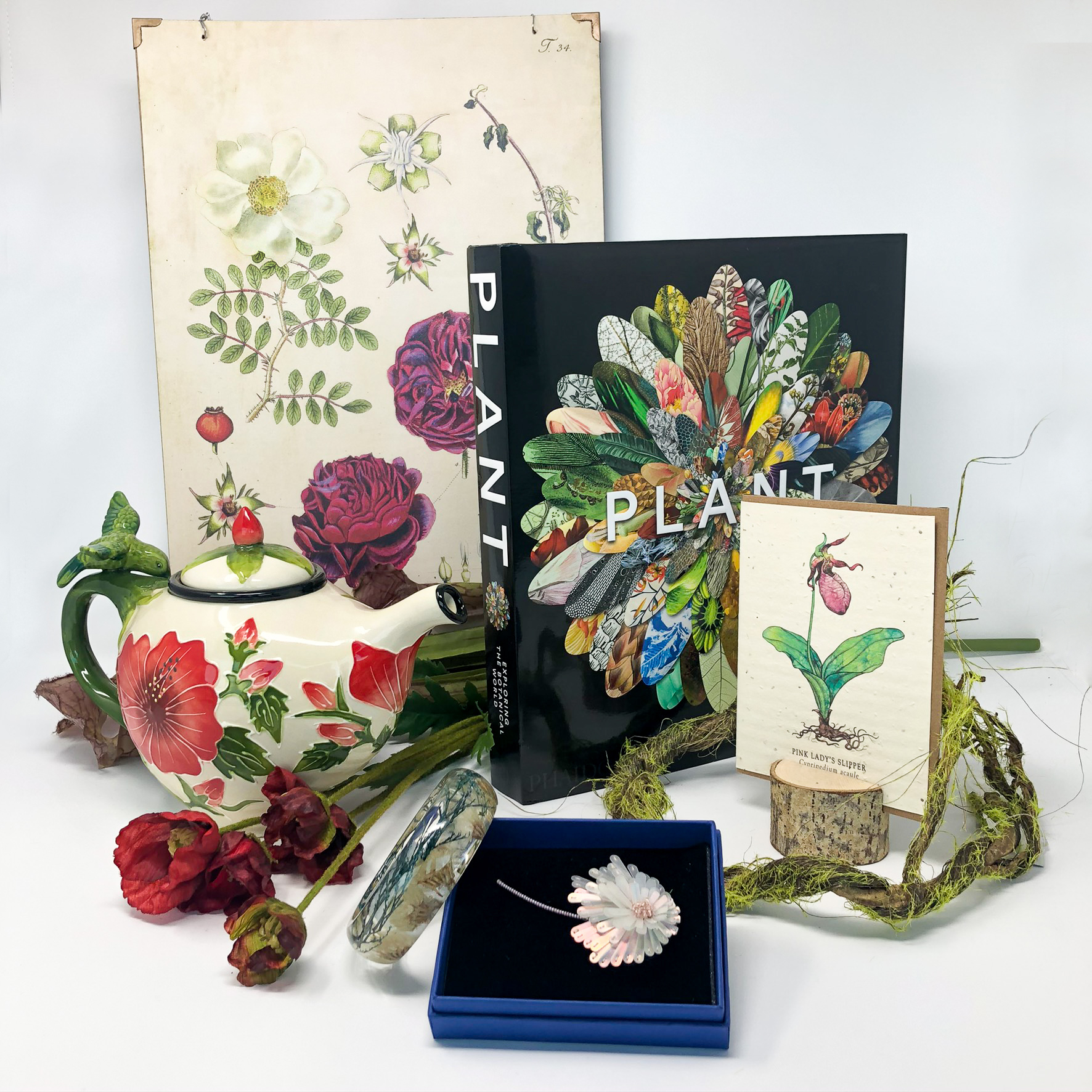 An assortment of plant-related gifts