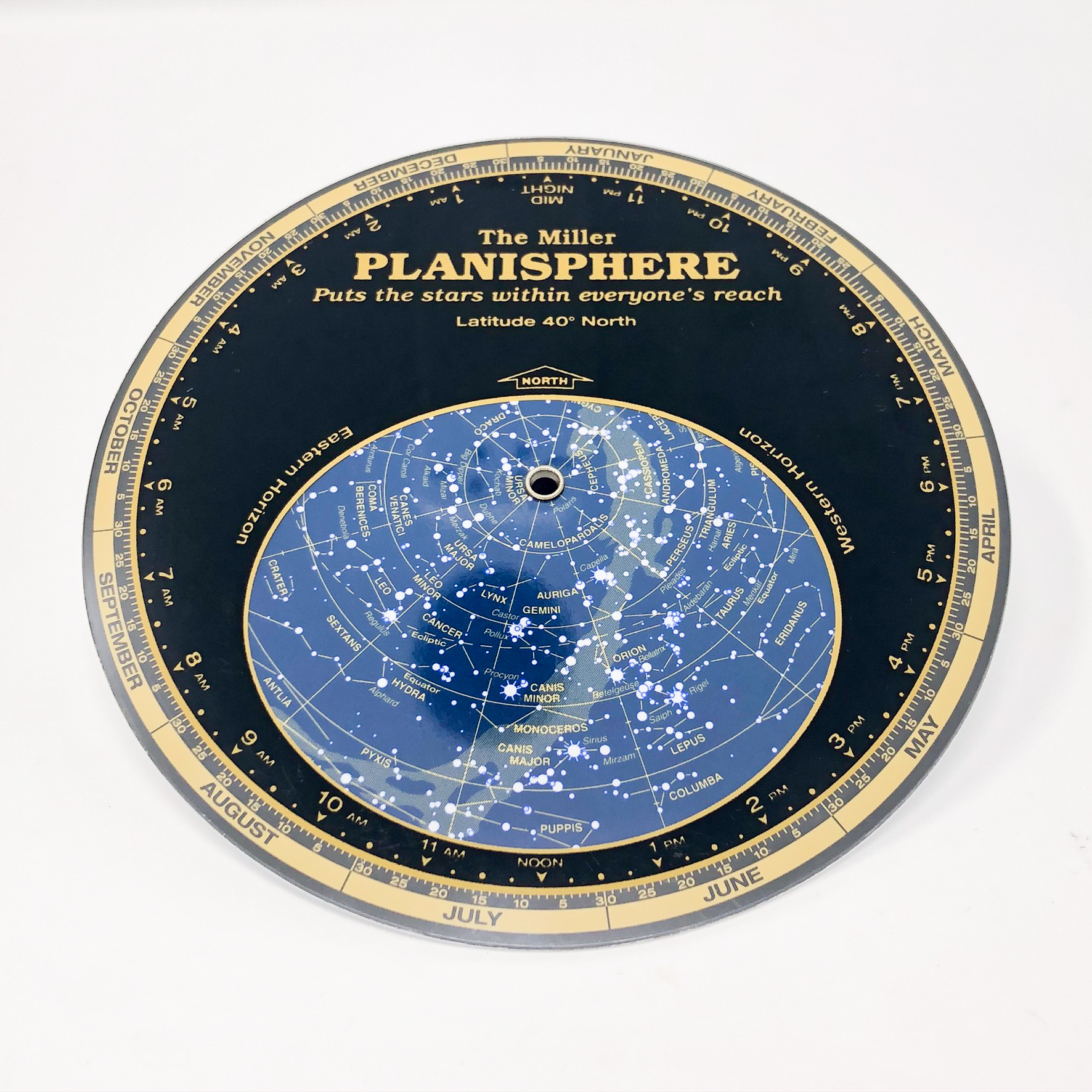 The MIller Planisphere, a tool for viewing what the night sky looks like on any day of the year