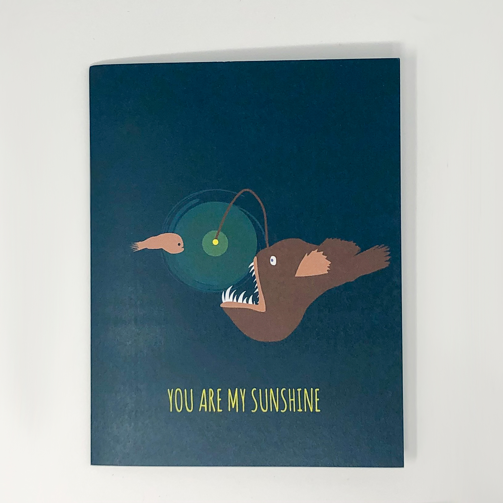 Greeting card with a anglerfish,