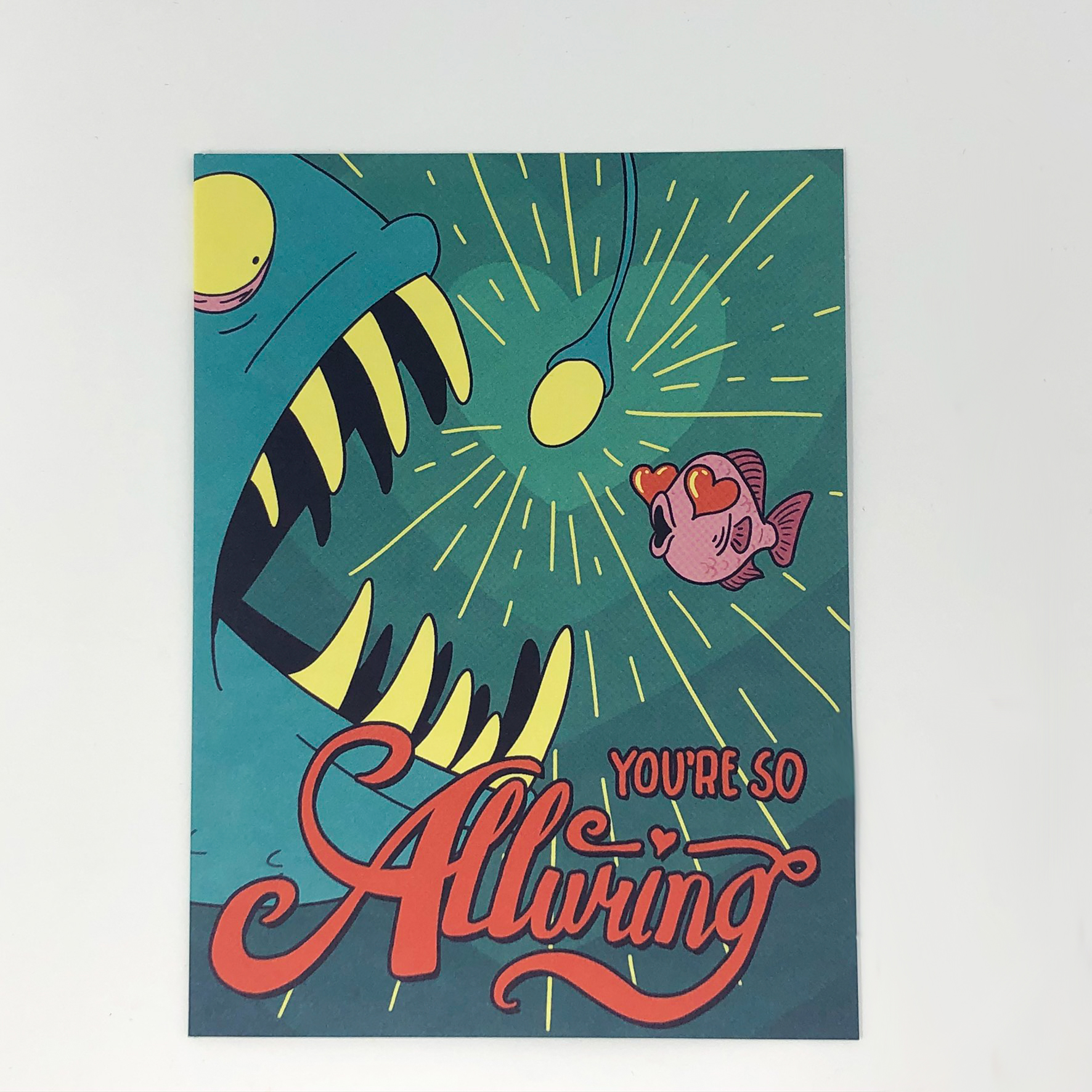 Greeting card that says,