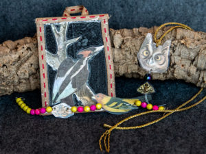 Crafts focused on birds for After Hours event