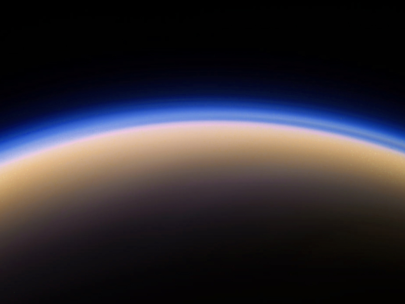 A moon of Saturn, photo taken through a telescope