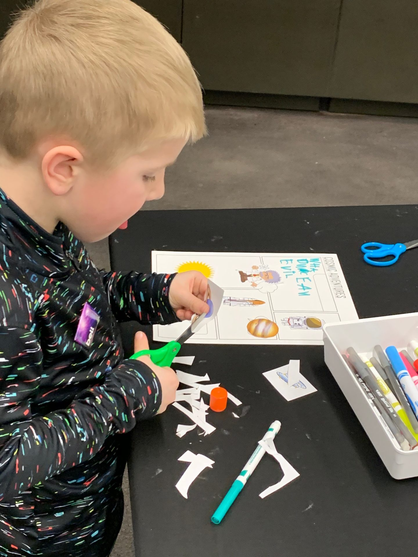 Young visitor creates adventure comic