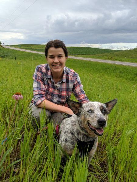 Amy Waananen in the field