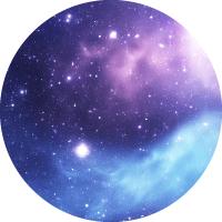 blue and purple nebula with white stars