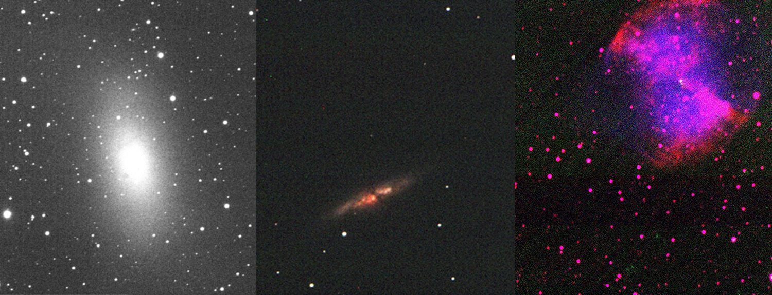 Selection of Skynet images from telescopes
