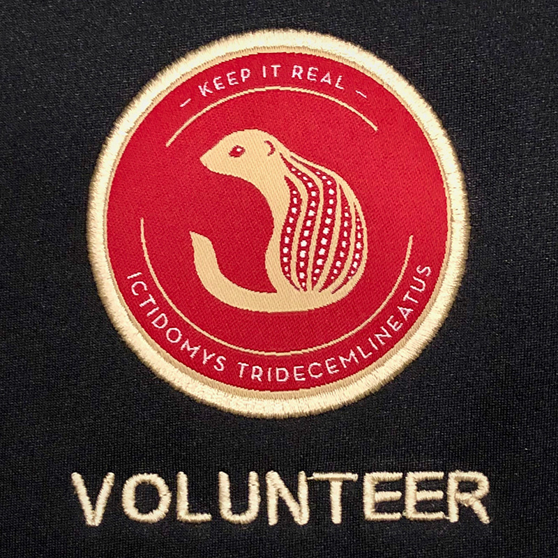 Volunteer badge from a vest