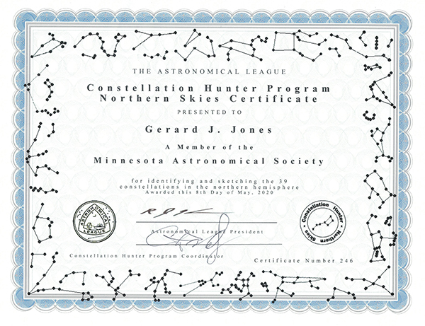 Certificate example image