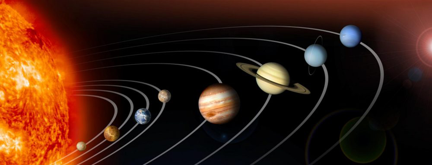 image of sun and solar system
