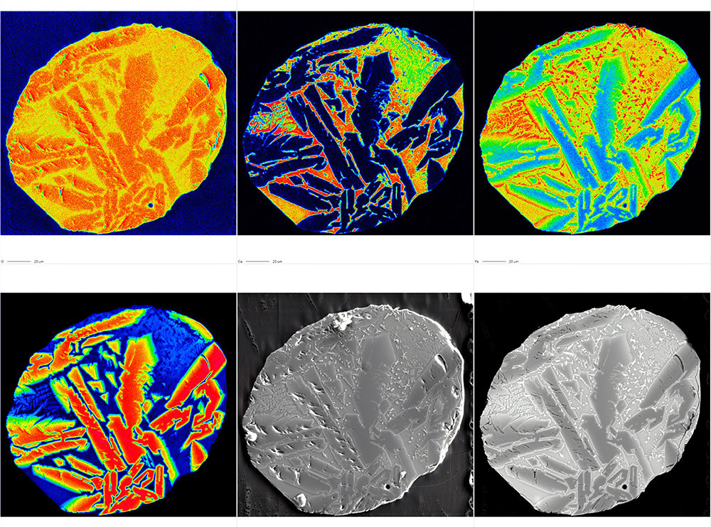 Colorful images for study of the micrometeorite
