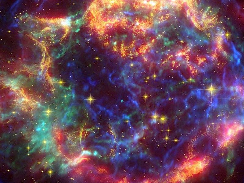 Brightly colored image of the constellation