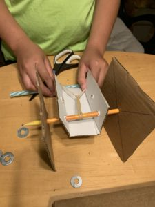 cardboard and pencil rover example