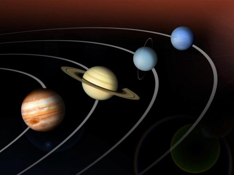 image of planets and orbits