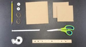 Cardboard and other materials needed for the rover