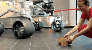 Model Cardboard Rover, test driving