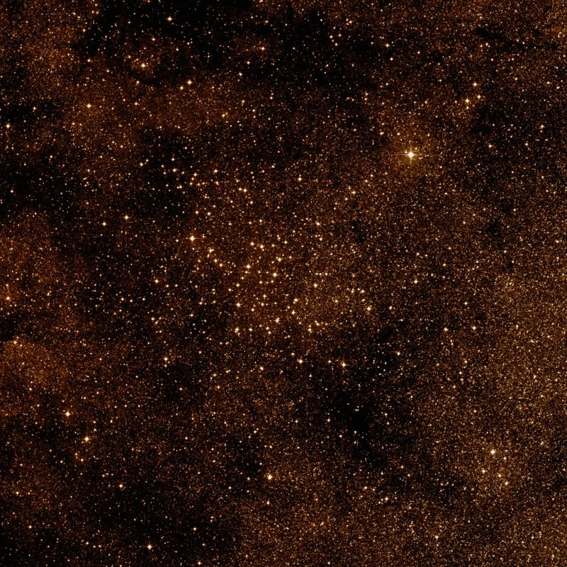 golden stars and clusters of stars in space