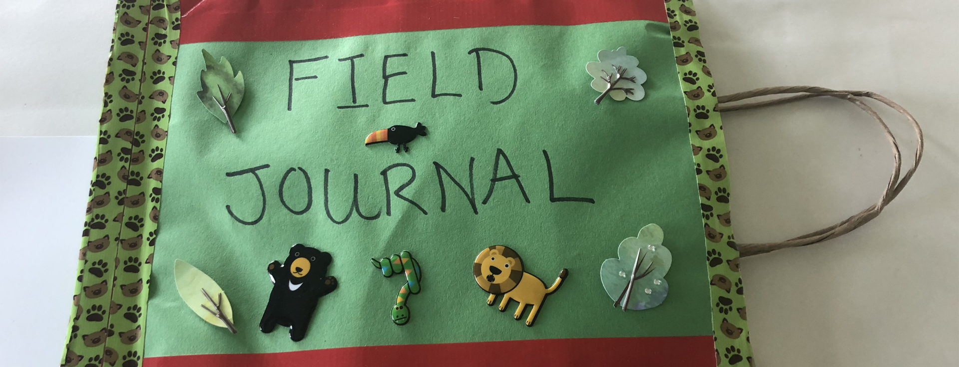 field journal decorated with natural images