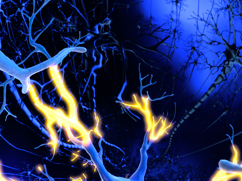 Illustration of brain synapses